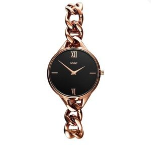 NEW IN BOX! Rose gold + black Sherry MVMT Watch